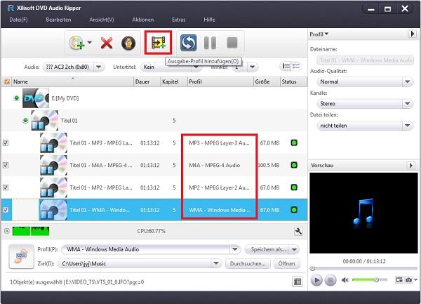 Xilisoft DVD to Audio Converter