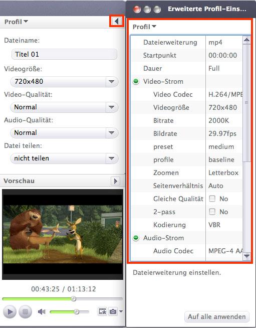 Xilisoft DVD to Apple TV Converter for Mac Anleitung