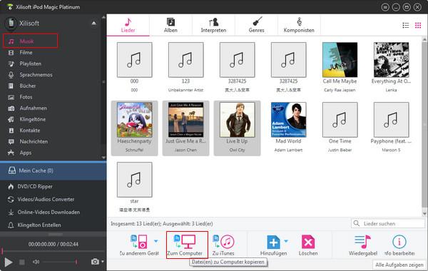 iPod Dateien auf PC umwandeln und kopieren