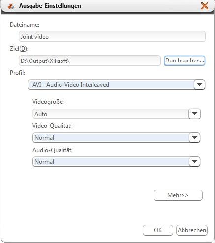 Video Segmente zusammenfügen Anleitung