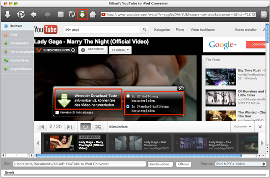 Xilisoft YouTube to iPod Converter for Mac