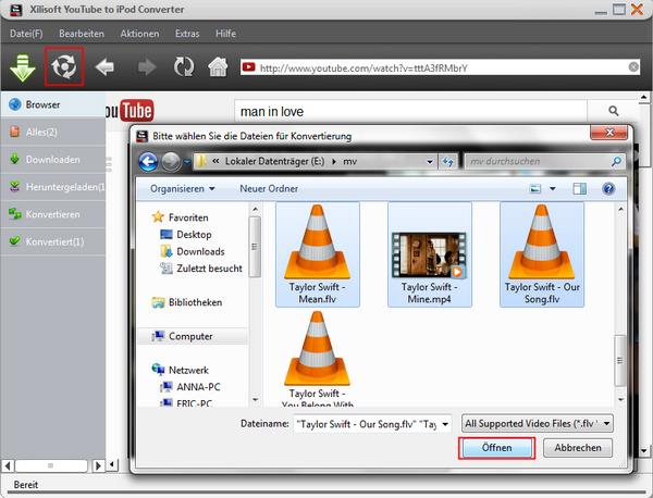 YouTube Video, Musik auf iPod laden Anleitung