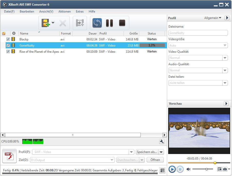 Xilisoft AVI SWF Converter