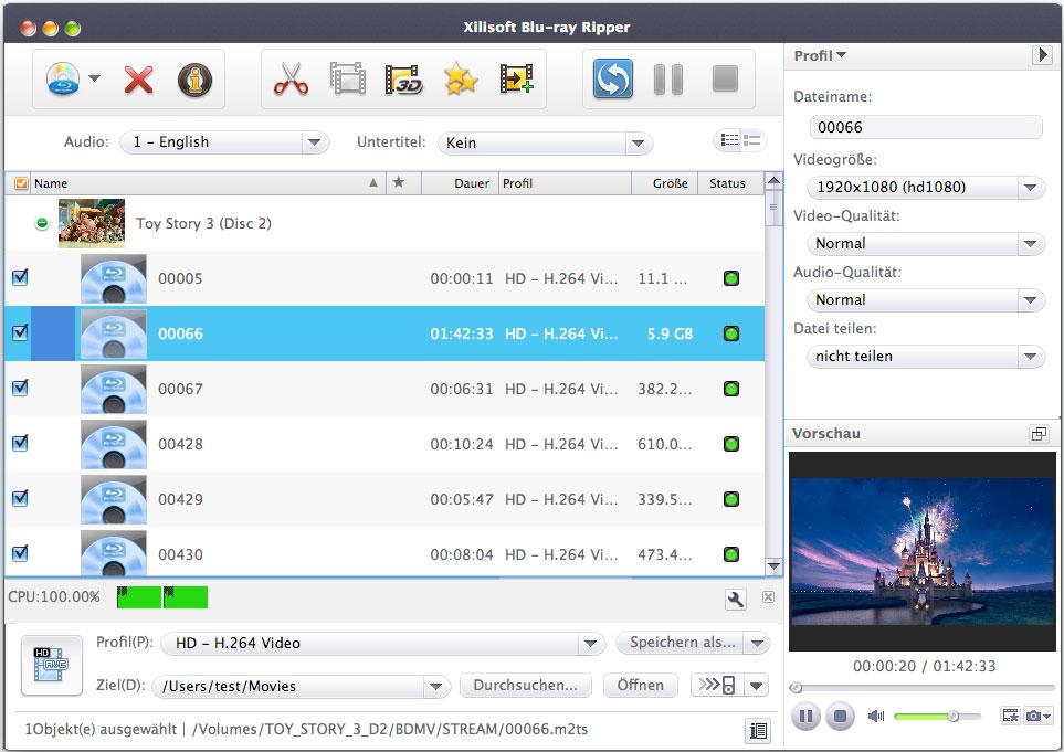 Xilisoft Blu Ray ripper- Blu Ray konvertieren