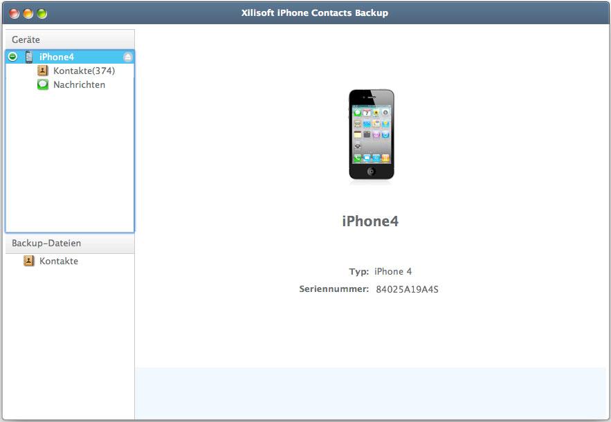 Xilisoft iPhone Kontakt Sichern for Mac - iPhone Kontakte transfer auf Mac