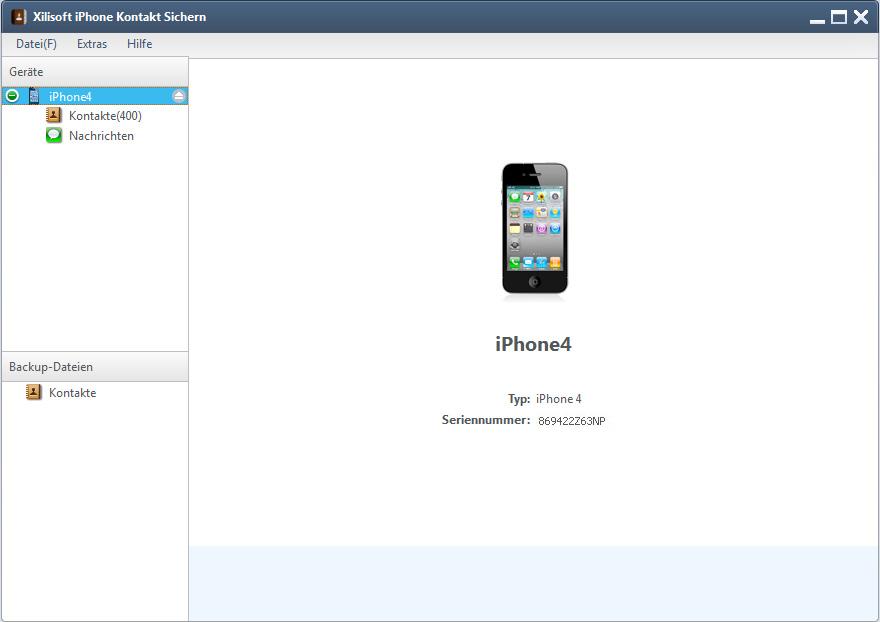 Xilisoft iPhone Kontakt Sichern- iPhone Kontakt backup