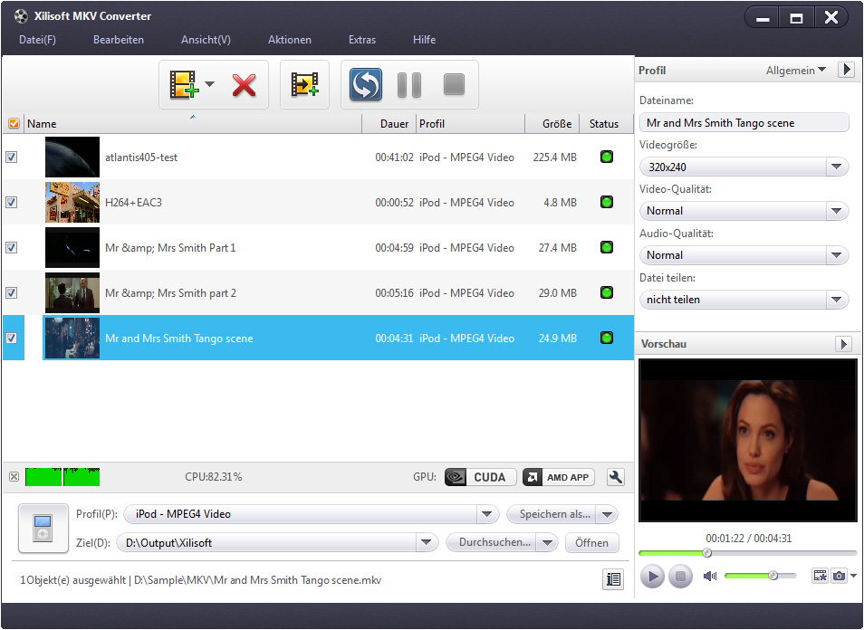 Xilisoft MKV Converter - MKV Datei umwandeln